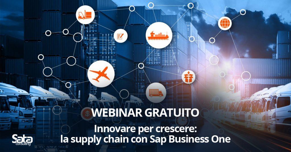 """Webinar: """"Innovare per crescere: la supply chain con Sap Business One"""""""