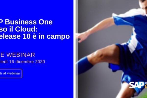 """Webinar: """"Release 10 di SAP Business One"""""""